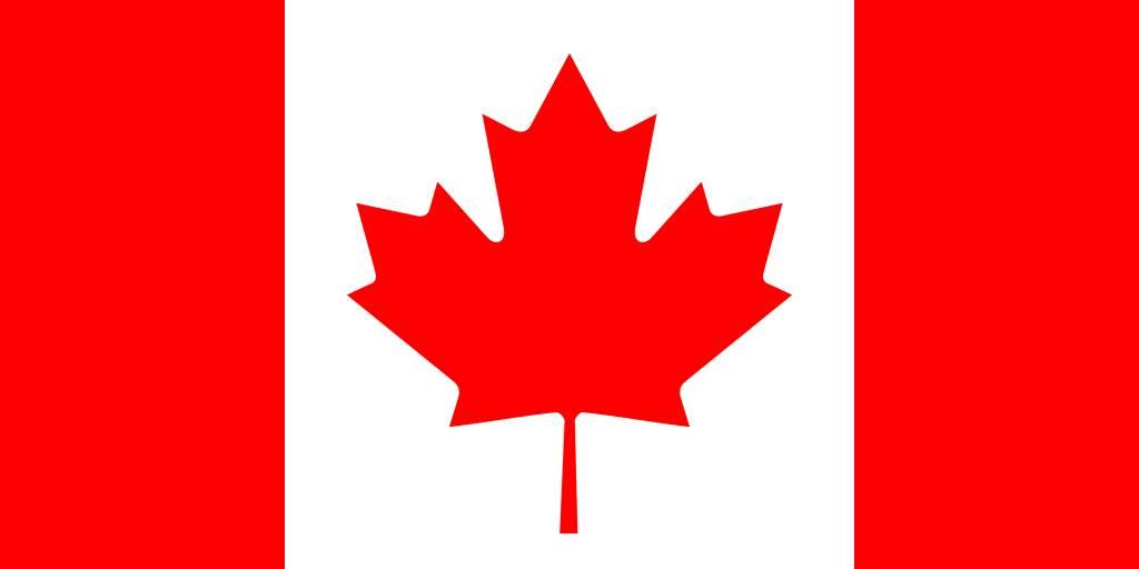1024x512 Canada Flag Vector