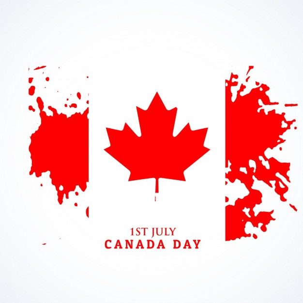 626x626 Canadian Flag In Grunge Style Vector Free Download