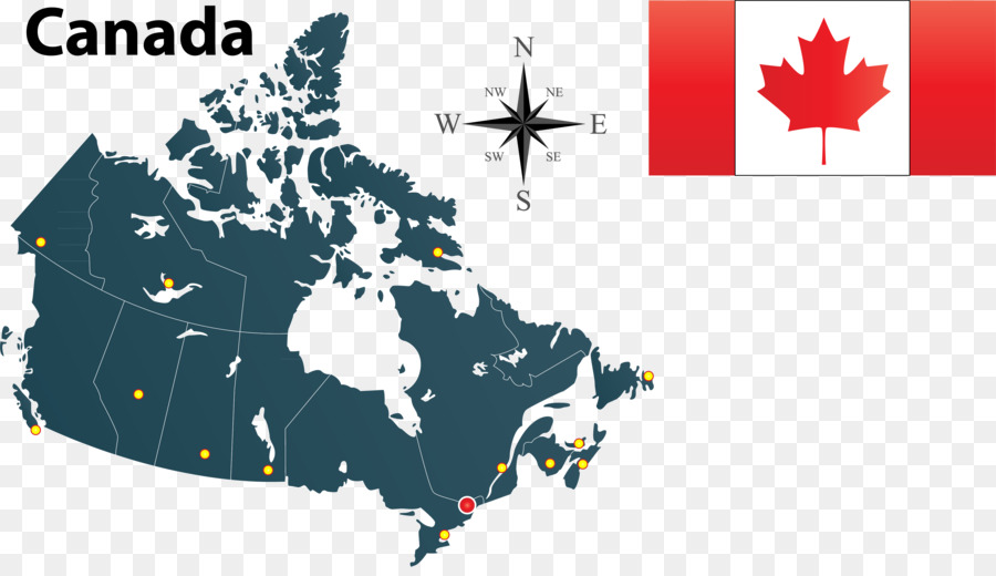 900x520 Flag Of Canada Map Silhouette
