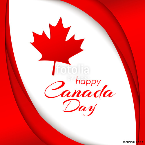 500x500 Patriot Poster With Canada Flag And The Text Of The Happy Canada