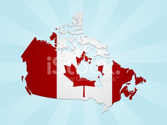 587x440 Canada Flag Map Stock Vector