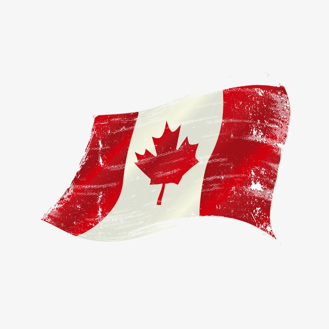 650x650 Watercolor Canadian Flag Vector Material, Watercolor Vector, Flag