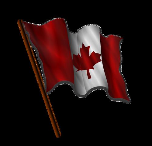 500x481 Waving Canadian Flag Vector Image Public Domain Vectors