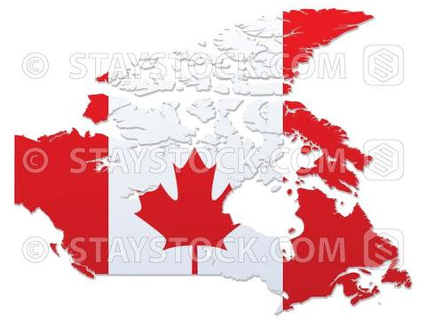 480x360 Canada Flag Map Vector Staystock