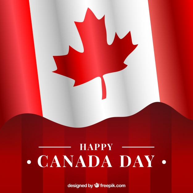 626x626 Canada Day Background With Canadian Flag Vector Free Download