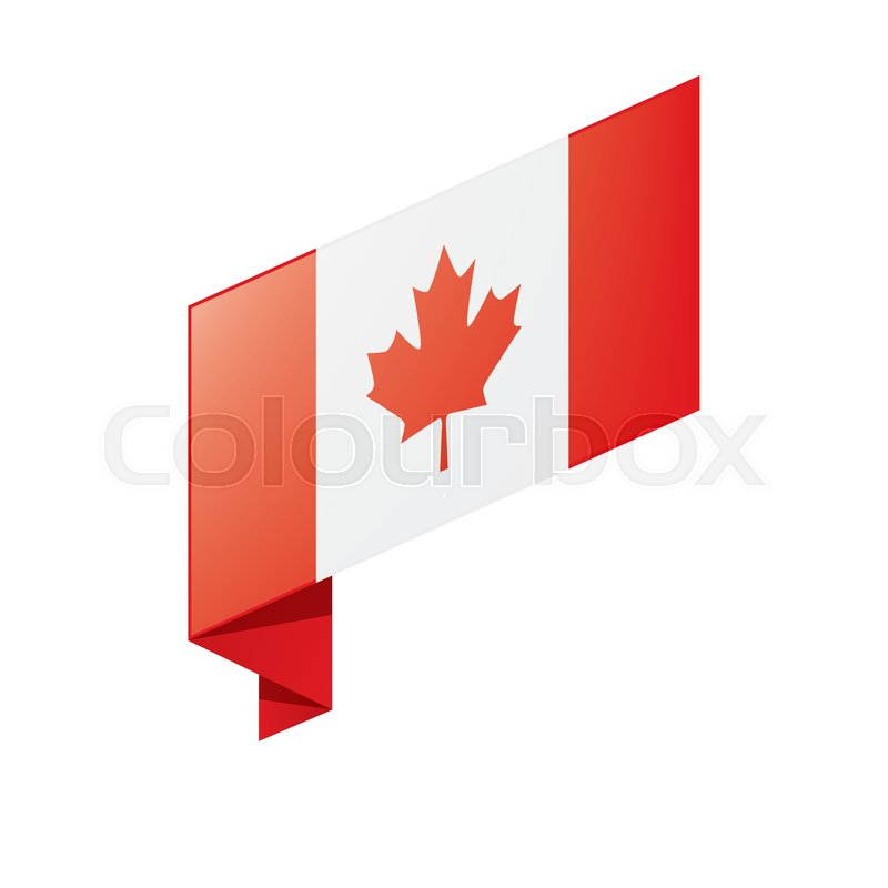 800x800 Canada Flag, Vector Illustration On A White Background Stock