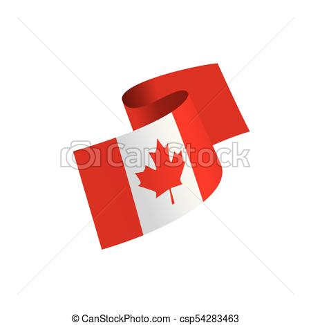 450x470 Canada Flag, Vector Illustration On A White Background Clip Art