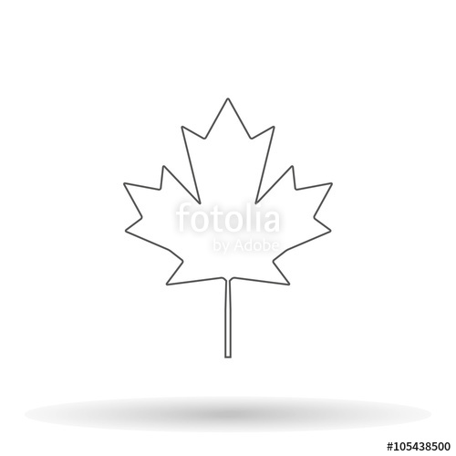 500x500 Collection Of Canada Maple Leaf Drawing High Quality, Free