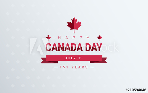 500x315 Canada Day Greeting Card Background