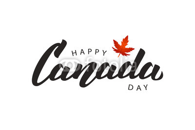 400x267 Vector Isolated Handwritten Lettering Logo For Canada Day With