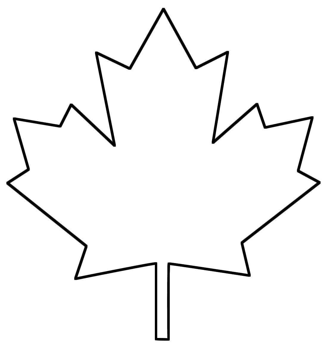 1088x1164 Canada Maple Leaf Vector Art