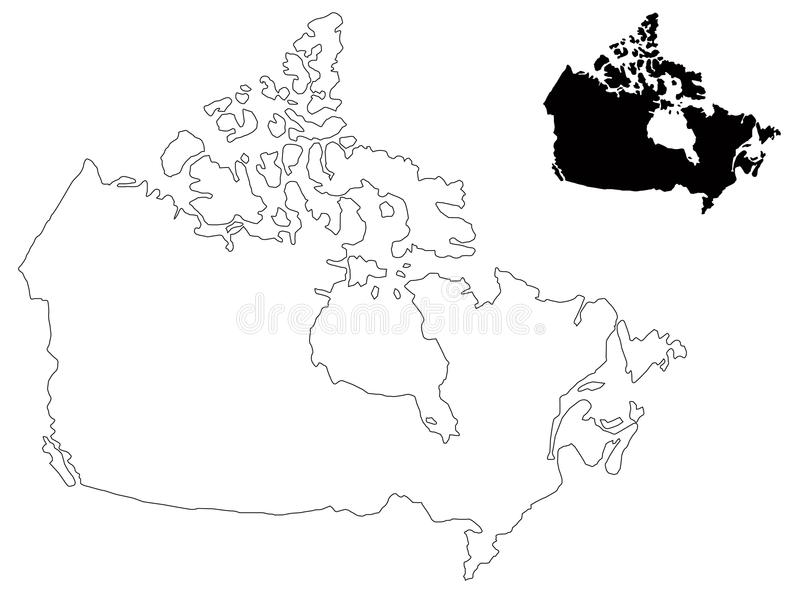 800x593 Canada Map Vector Canada Map Country In North America Stock Vector