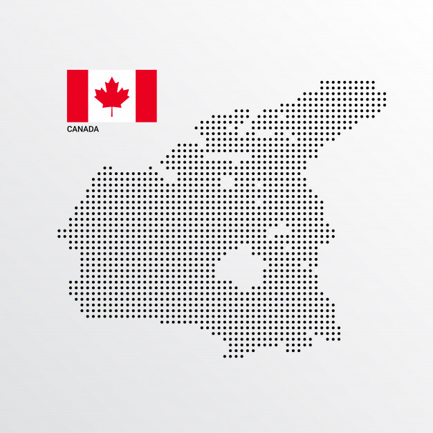 626x626 Canada Map Design With Flag And Light Background Vector Vector