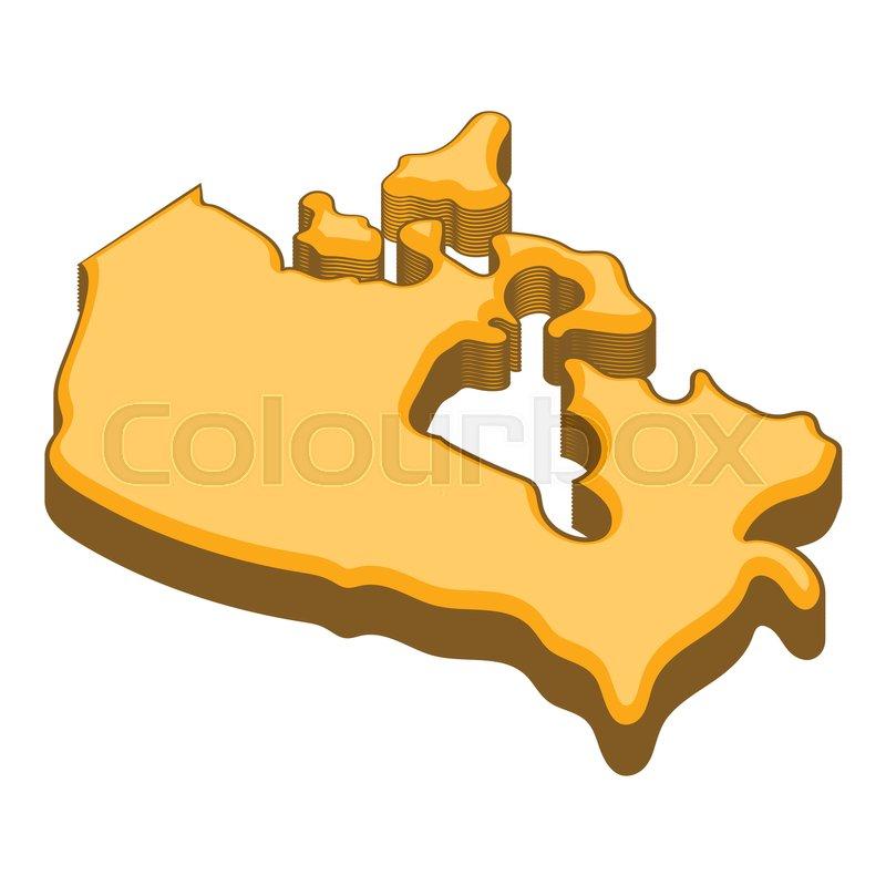 800x800 Canada Map Icon. Cartoon Illustration Of Canada Map Vector Icon