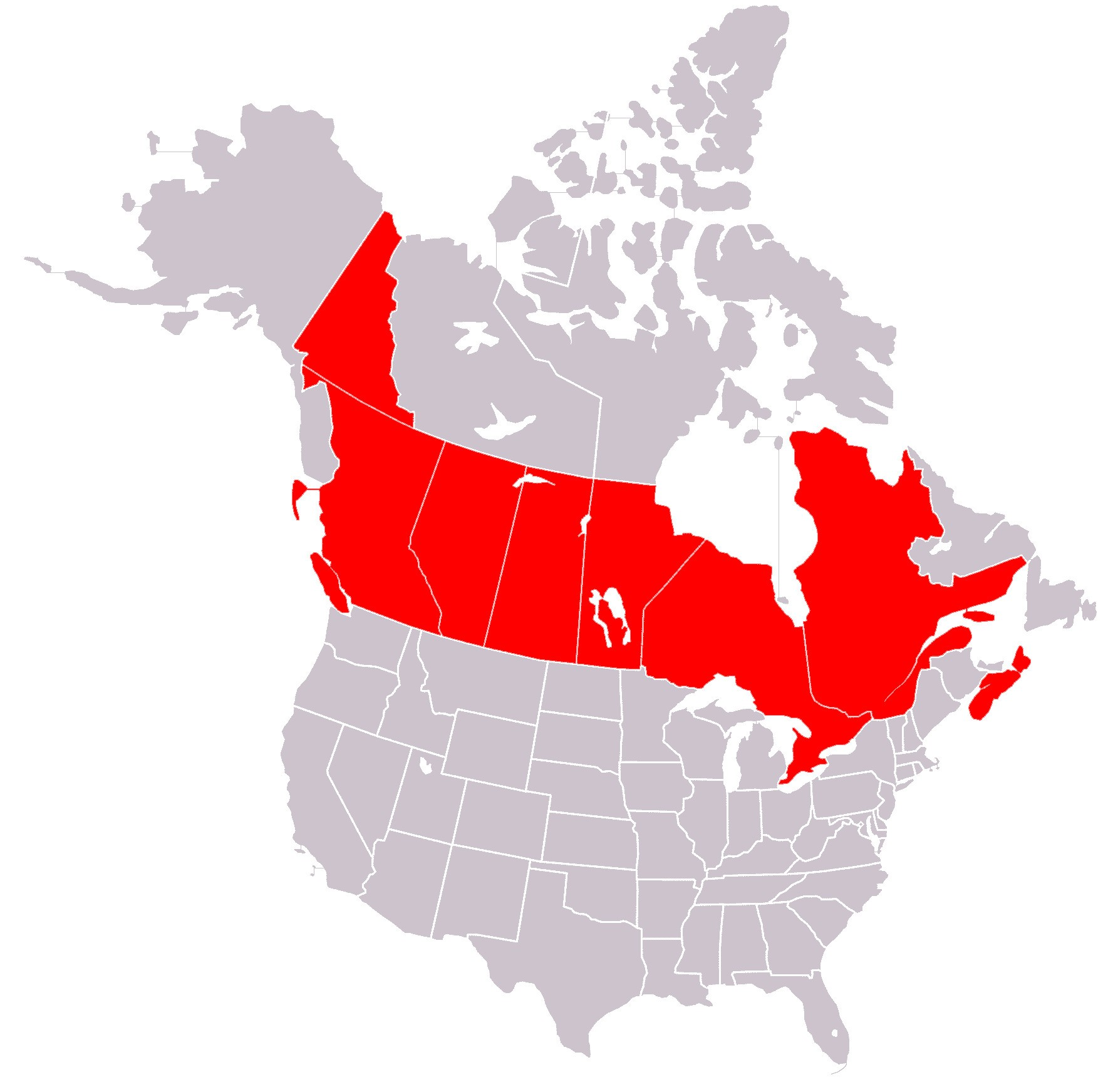 Canada Map Vector At Getdrawingscom Free For Personal Use Canada - Us-canada-map-outline