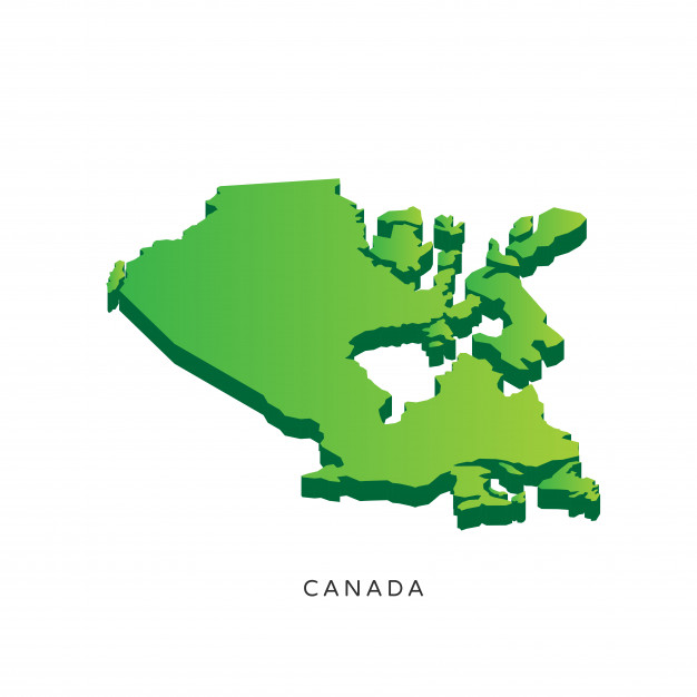 626x626 Modern Isometric 3d Canada Map Vector Free Download