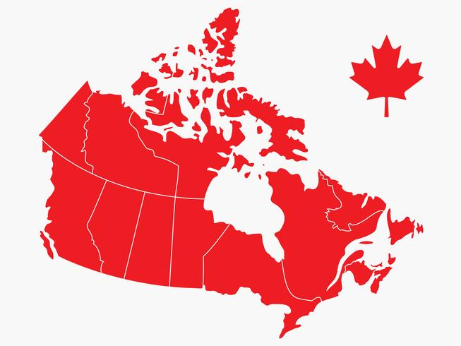 653x490 Canada Day Vector Map