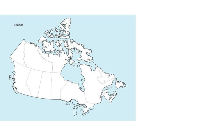 700x490 Canada Map Vector