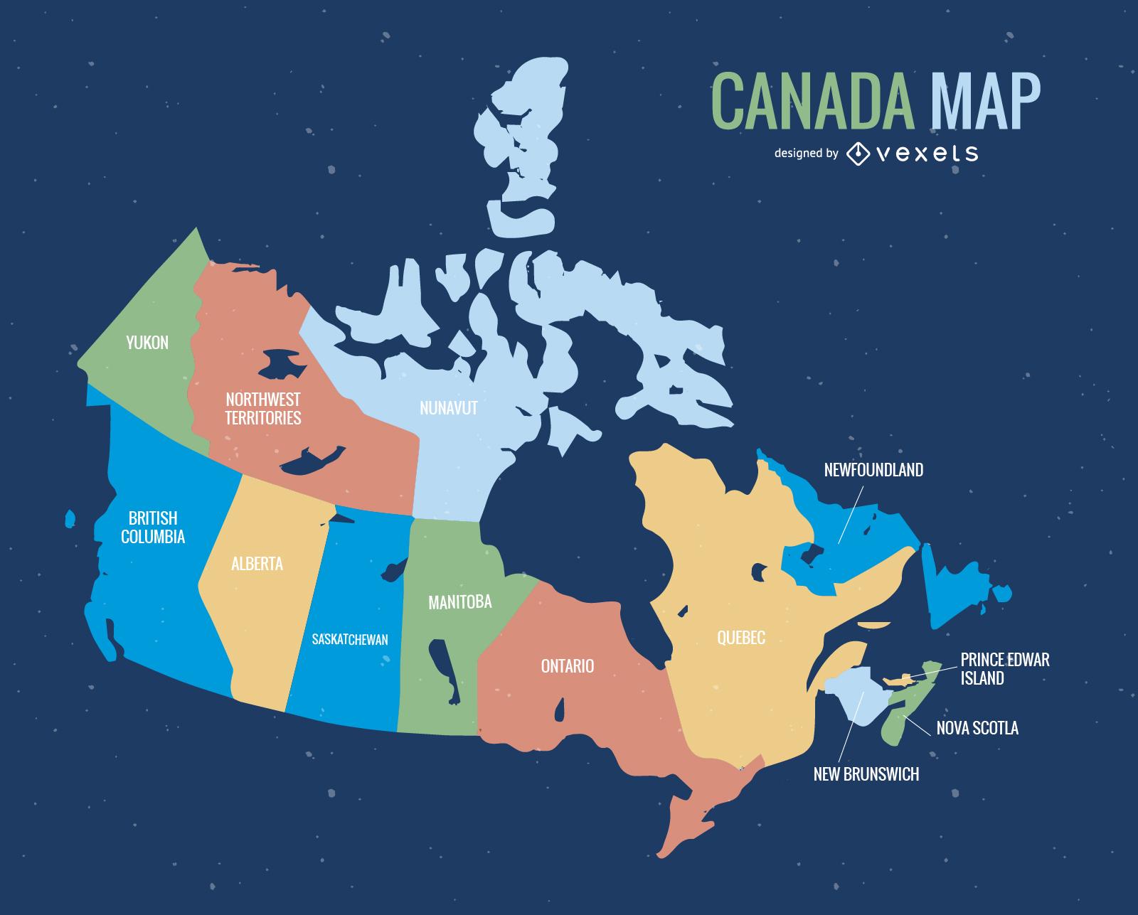 1600x1287 Canada Map Vector