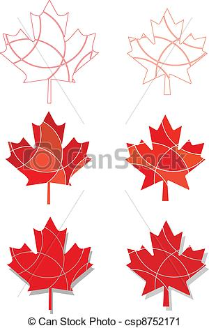 300x470 Canadian Emblem Maple Leaves. A Set Of Maple Leaves In A Sectioned