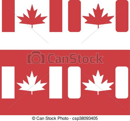 450x416 Flag Of Canada Red Maple Leaf Vector Design Template.