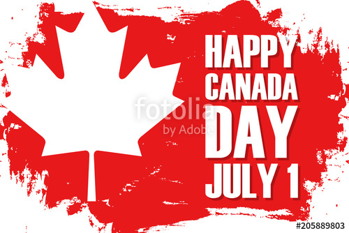 500x334 Happy Canada Day, July 1 Celebrate Brush Stroke Background With