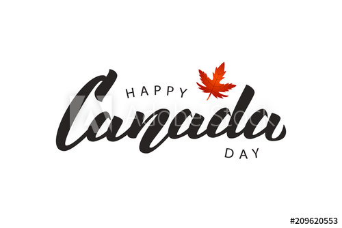 500x334 Vector Isolated Handwritten Lettering Logo For Canada Day With