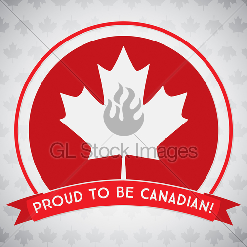 500x500 Circle Canada Day Maple Leaf Card In Vector Format. Gl Stock Images