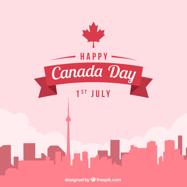 626x626 Cityscape Background For Canada Day Vector Free Download