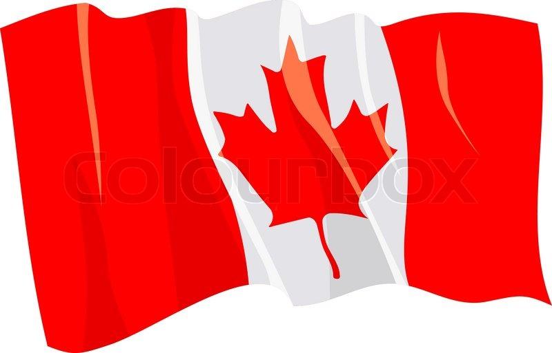 800x513 Political Waving Flag Of Canada Stock Vector Colourbox