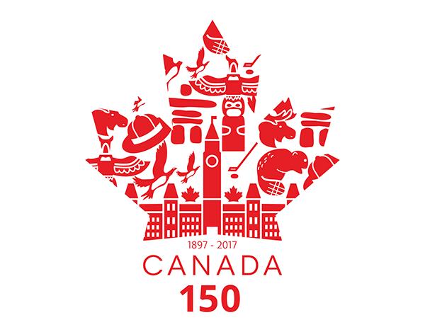 600x469 Canada 150 Logo Vector, Black And White, Printable, Template