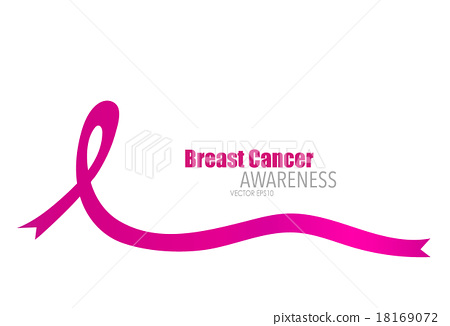 450x326 Breast Cancer Awareness Pink Ribbon. Vector Illustration.