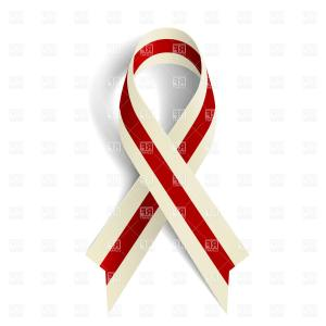 300x300 Burgundy And Ivory Ribbon As Symbol Of Head And Neck Cancer Vector