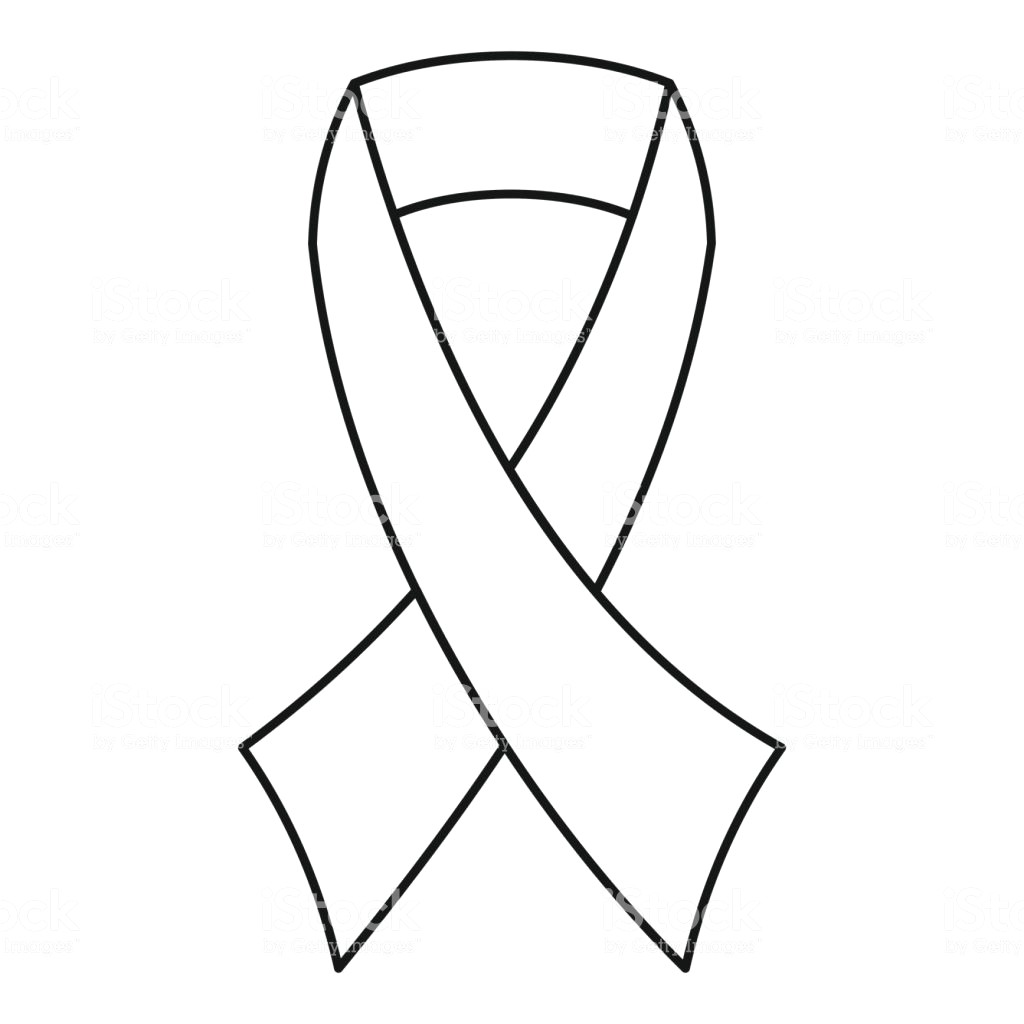 1024x1024 Breast Cancer Ribbon Clipart 5 15 Outline