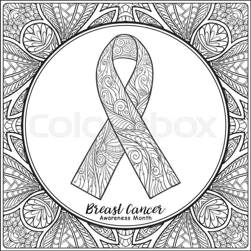 800x800 Breast Cancer Awareness Month Decorative Pink Ribbon On Decorative