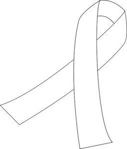 255x299 Collection Of Cancer Ribbon Line Drawing High Quality, Free