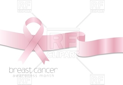 400x276 Breast Cancer Awareness Month Background Vector Image Vector