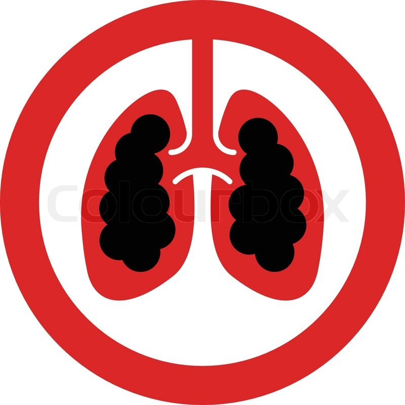 800x800 No Smoking Sign With Lung Cancer Concept In Vector Stock Vector