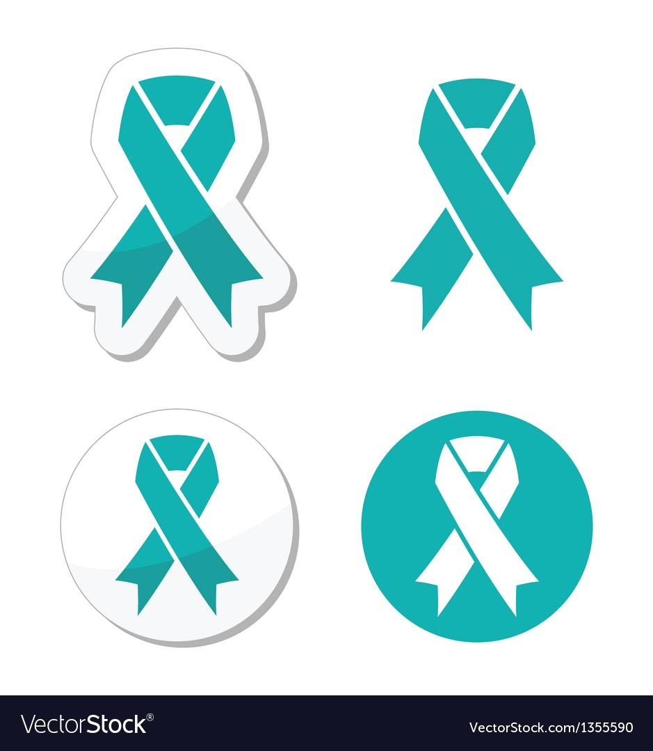 939x1080 Teal Ribbon Ovarian Cervical Uterine Cancer Vector 1355590 18