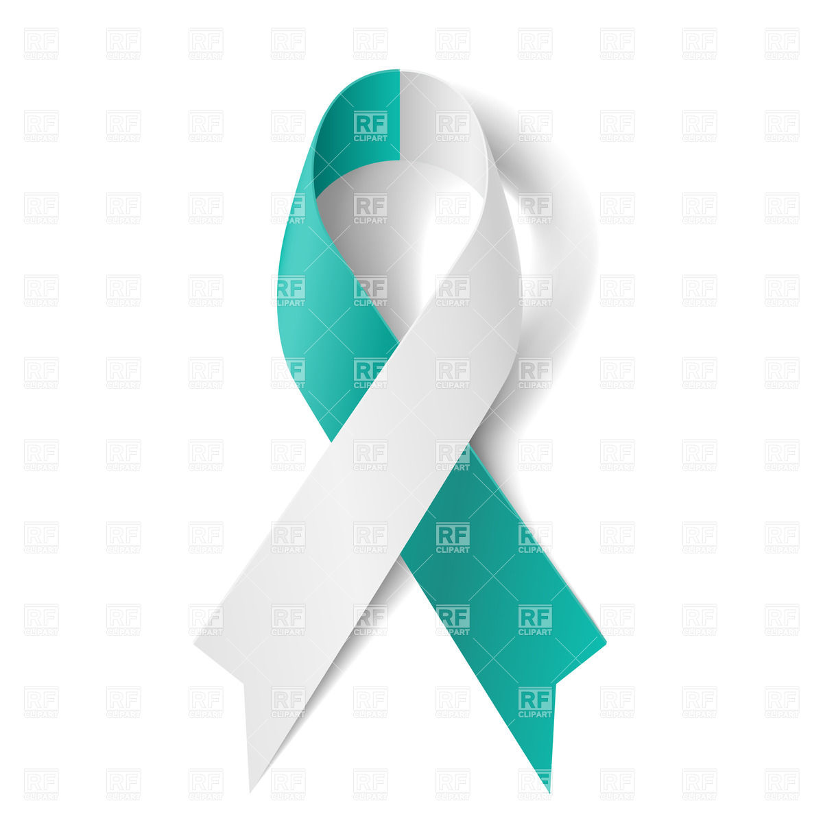 1200x1200 Teal And White Ribbon