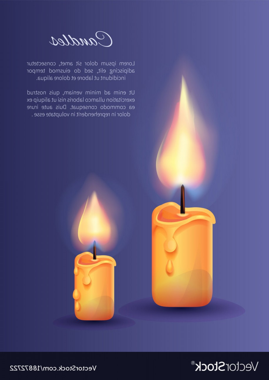 916x1296 Two Burning Candles Small And Big With Lit Flame Vector Rongholland