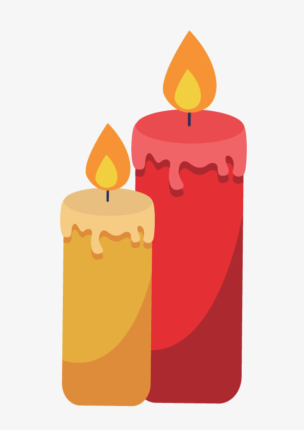 595x842 Decorative Gift Candle Vector Flat, Candle, Gift, Decoration Png