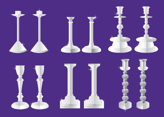 572x407 Silver Candlestick Vector Free Vector Download In .ai, .eps