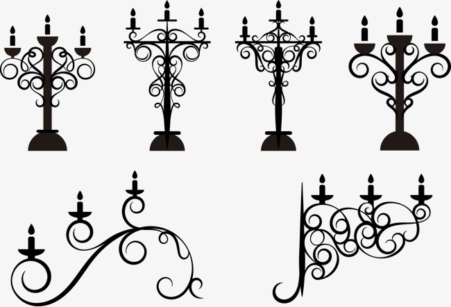 650x442 Vector Illustration Retro Candlestick, Candlestick, Lamp Stand
