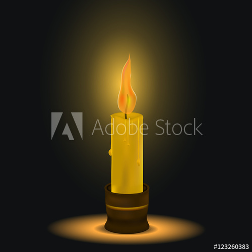500x500 The Candle Burns. Dark Space. A Flame Of Fire. Melting Wax