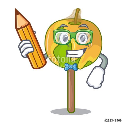 500x500 Student Candy Apple Character Cartoon Stock Image And Royalty