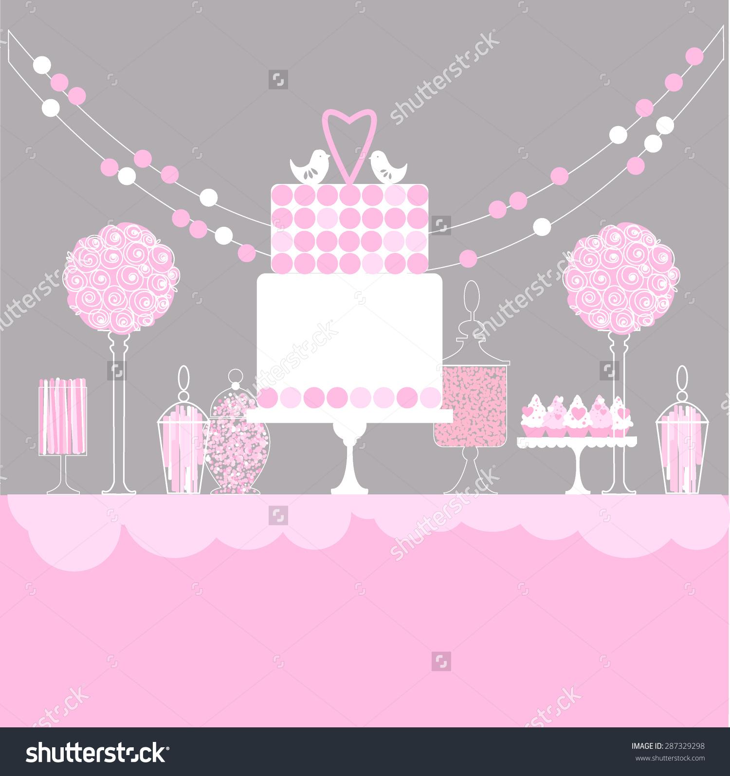 1500x1595 Candy Bar Clipart Dessert Table 3127441