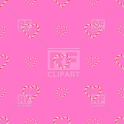400x400 Seamless Sweet Candy Hearts Pattern Vector Image Vector Artwork
