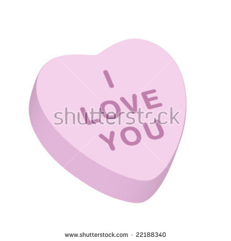 450x470 Valentine Heart Candy Vector Clipart