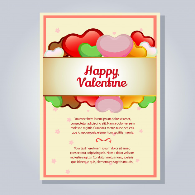 626x626 Valentine Letter With Candy Heart Vector Premium Download